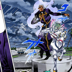 Pucci with his perfected Stand, Made in Heaven