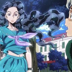 Koichi becomes enraptured by Yukako's incredible beauty.
