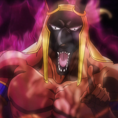 Anubis appears in the form of a vision