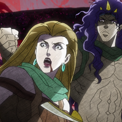 Lisa Lisa tricked and defeated by the actual Kars
