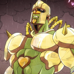 Crazy Diamond with a gold and olive green coloring.