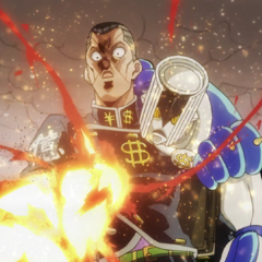 Okuyasu fatally wounded by <a href=