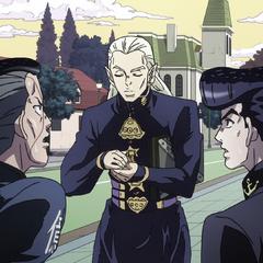 Okuyasu suggesting that he and Josuke punch Mikitaka.