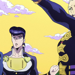 Okuyasu notices the transmission tower after Mikitaka points it out.