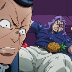 Okuyasu avenges his brother by defeating <a href=