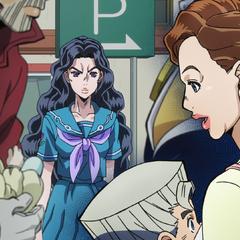 Upset with Koichi's family's interruption.