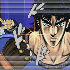 Zeppeli with Jonathan upon activation of their DHA, <i>EoH</i>