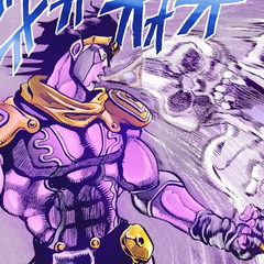 Star Platinum sucking up <a href=