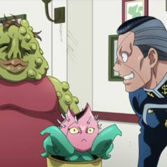 Eating happily with Okuyasu at <a href=