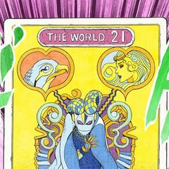 DIO's tarot card representing