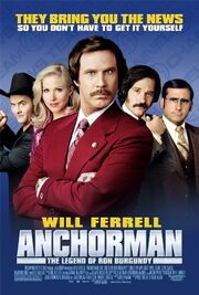 Movie poster Anchorman The Legend of Ron Burgundy