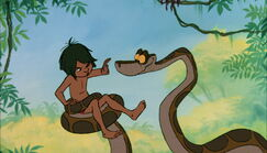 Mowgli dosen't want Kaa to hypnotize him