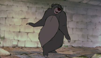 Baloo the bear is going to create a disturbence by danceing