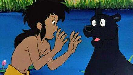 Mowgli Complaining to Bagheera