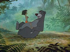 Mowgli and Baloo The Bear allright kid