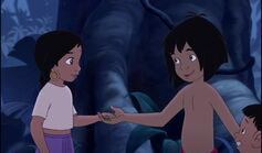 Mowgli is going to race Shanti and Ranjan back to their parents