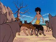 Akru and Sura defending Mowgli