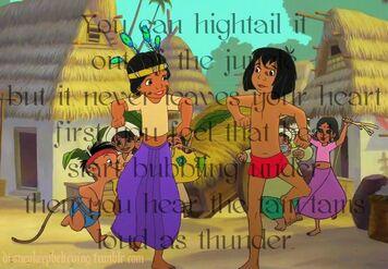 Mowgli Shanti and Ranjan fun time