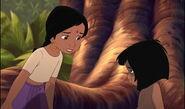 Mowgli feels bad he wanted Baloo the Bear to scare Shanti