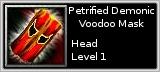Petrified Demonic Mask quick short