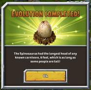 Spinosaur evo1 message