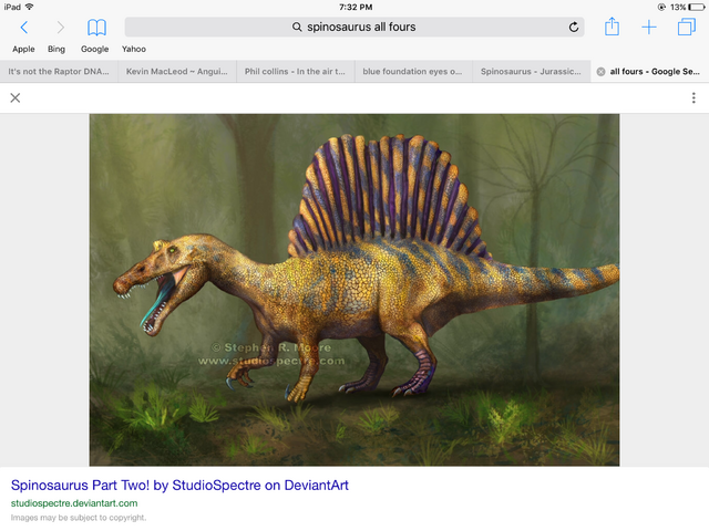 File:Spinosaurus with blue tongue .png