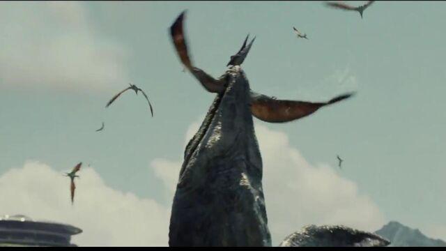 File:MosasaurusattackingPteranodon.jpg