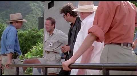 Jurassic Park 1993 - Raptor Feeding Scene HD-0