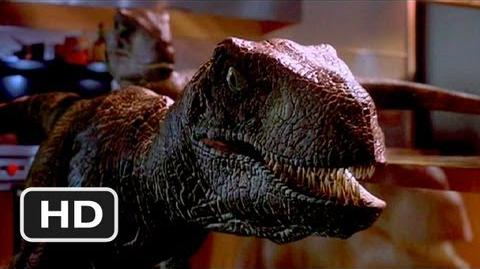 Jurassic Park (9 10) Movie CLIP - Raptors in the Kitchen (1993) HD-0