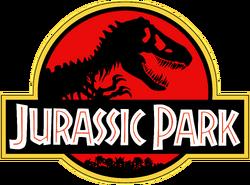 Jurassic Park Logo Black Red Yellow
