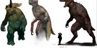 Dinosaur-human hybrid