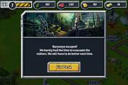 Baryonyx escaped