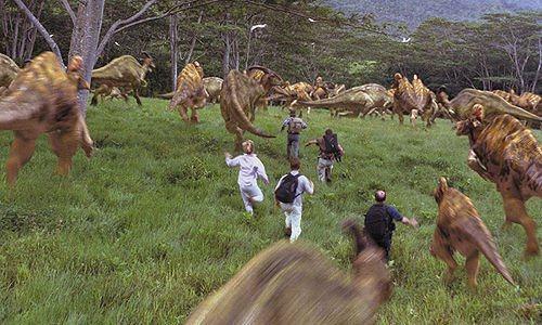 File:Stampeding herd of hadrosaurs.jpg