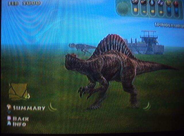 File:Spinosaurus sees the Tyrannosaurus Rex in the distance.JPG