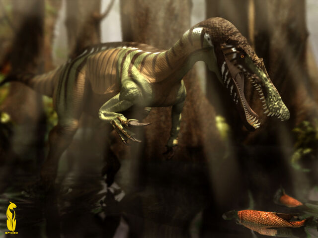 File:Baryonyx in the Flooded Forest .jpg