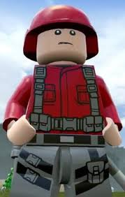 Lego Jurassic World Video Game Soldier