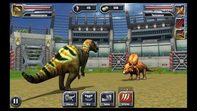 File:Jurassic Park Builder Dinosaurs Feature Battles Edmontosaurus.jpg