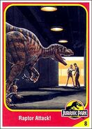 Velociraptor collector card