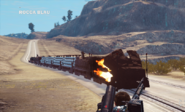 JC3 Burning locomotive glitch