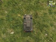 Harland DTWV-2 Scout, Guerrilla version, at safehouse, upper view.