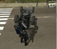 Wallys GP, Guerrilla version, patrol, view of the underside parts.