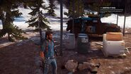 JC3 Rebel soldier and car on volcano island