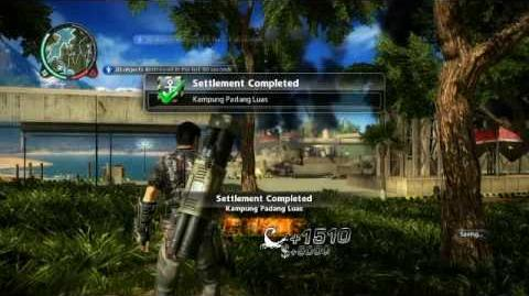 Just Cause 2- settlement completion- Kampung Padang Luas