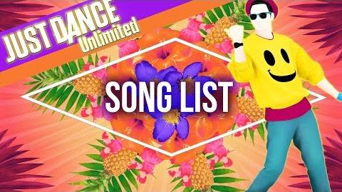 Just Dance Unlimited - Song List US