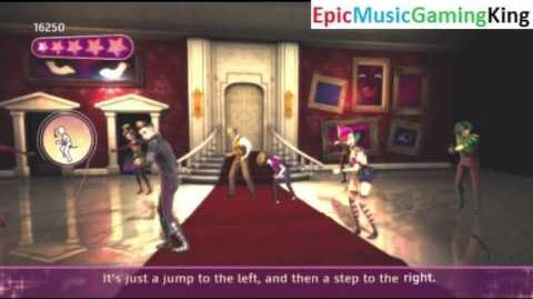 """Dance on Broadway Gameplay - """"Time Warp"""" - High Score Of 97,500 Points"""