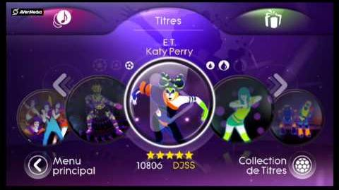 Just Dance 3 Menu (Wii)-(PAL)-(Special édition Katy Perry)