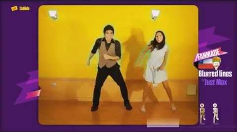Just Dance Now FANMADE Blurred Lines by JUSTMAX WII-1
