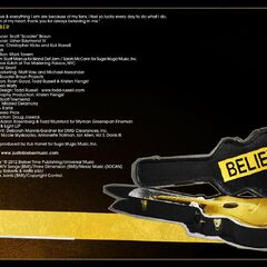 Page 7 of the booklet, with Bieber's guitar and case, with the album title on it.