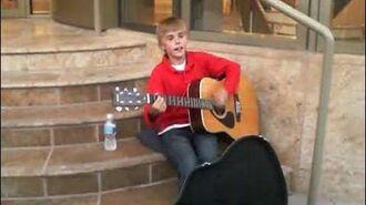 Justin Bieber singing I'll Be at Avon Theatre