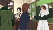 Masumi and Toshimi preparing the class act